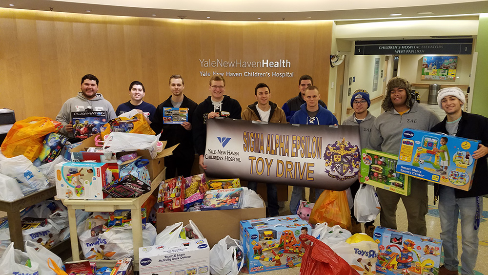 University of New Haven Sigma Alpha Epsilon Toy Drive